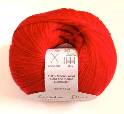 Debbie Bliss Rialto lace - Tomato red